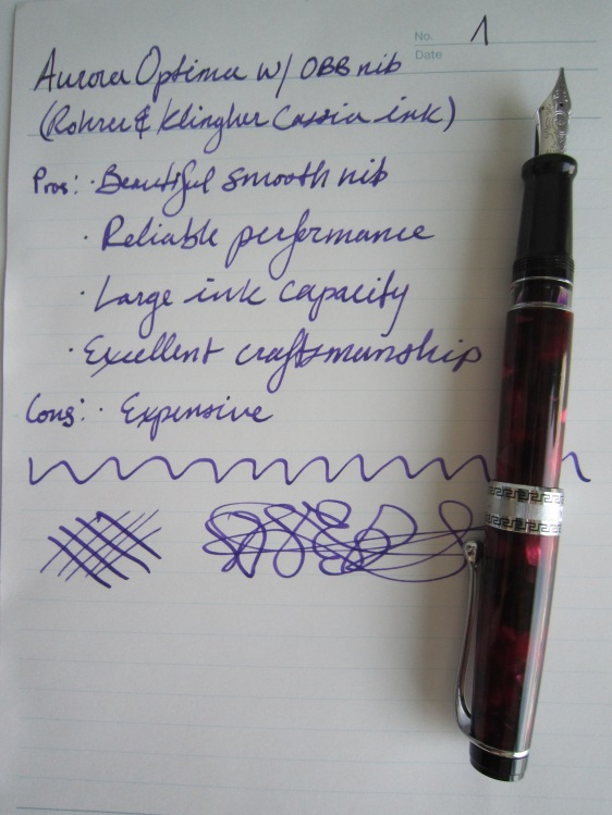 Aurora Optima writing sample