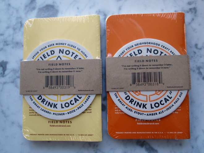 The new Field Notes Drink Local Edition Back Cover with Coasters