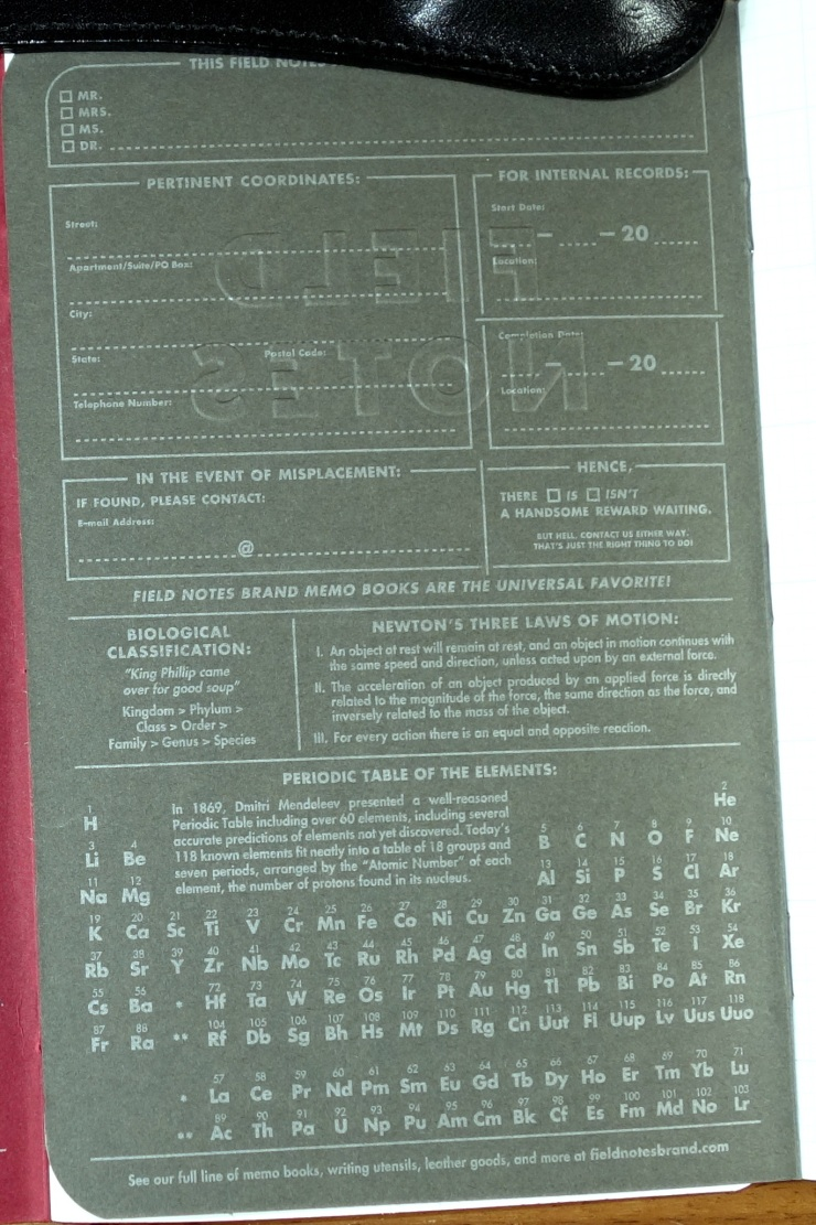 Sciences inside back cover.