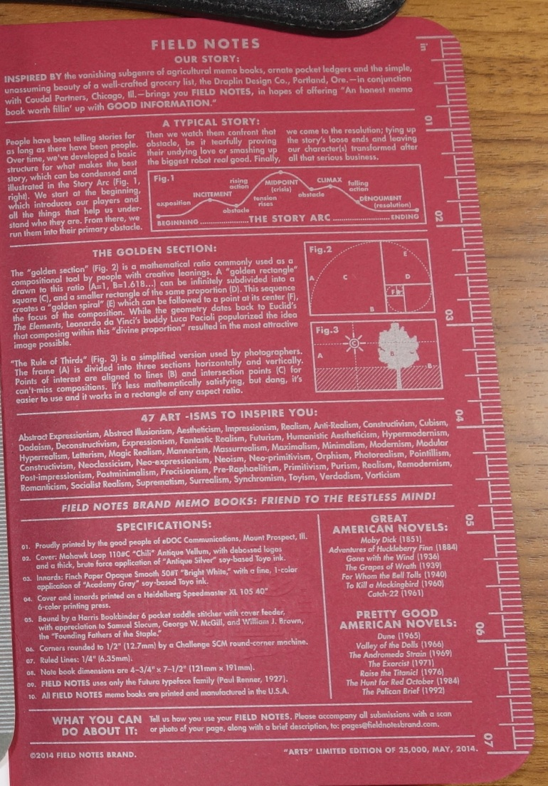Arts inside back cover.