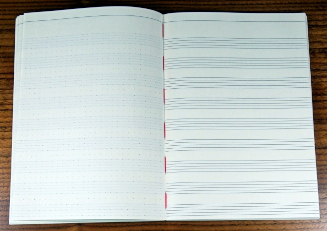 This is right in the middle of the notebook.  Notice how flat it lies.