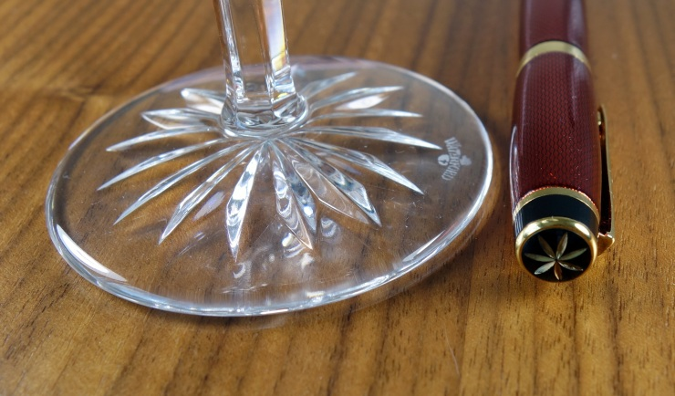 Waterford crystal Martini glass base with star design.