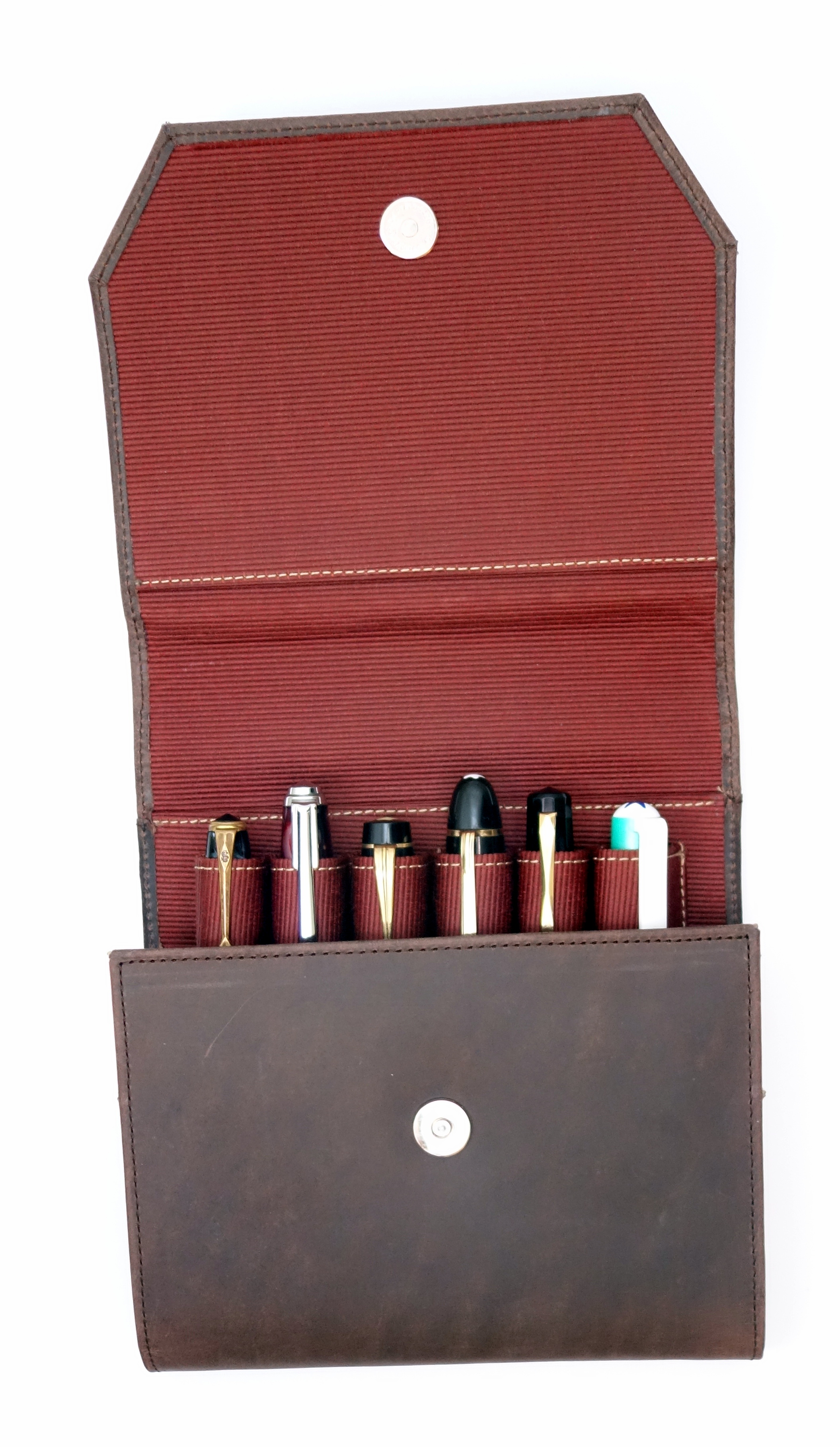 Franklin-Christoph Penvelope Six Leather Pen Case