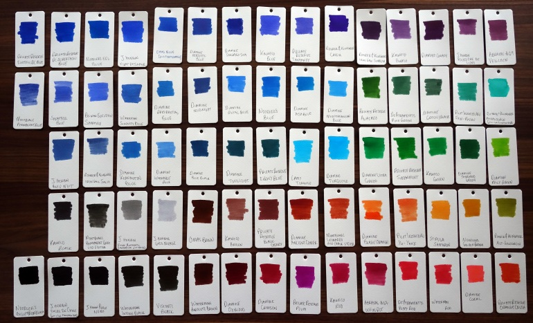 Fountain Pen Ink Samples