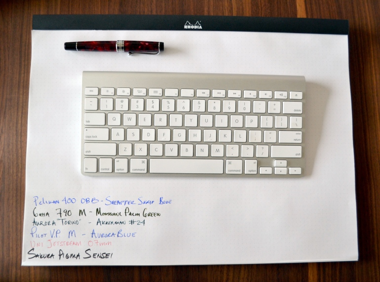 #38 DotPad on my makeshift desk (dining room table) with keyboard and Aurora Optima.