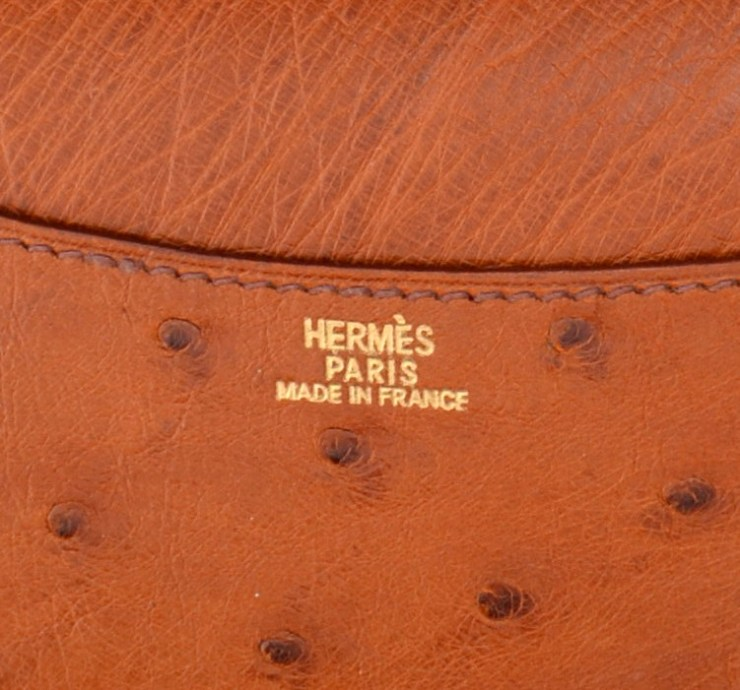 Hermès Ostrich GM Notebook Cover