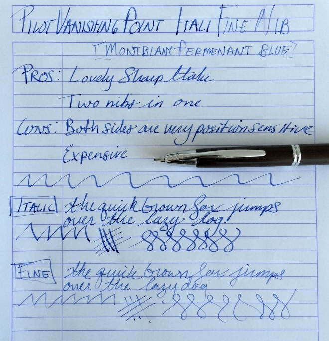 Richard Binder's ItaliFine Pilot Vanishing Point Fountain Pen Nib