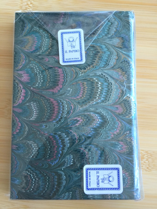 Il Papiro Marbleized Notebook