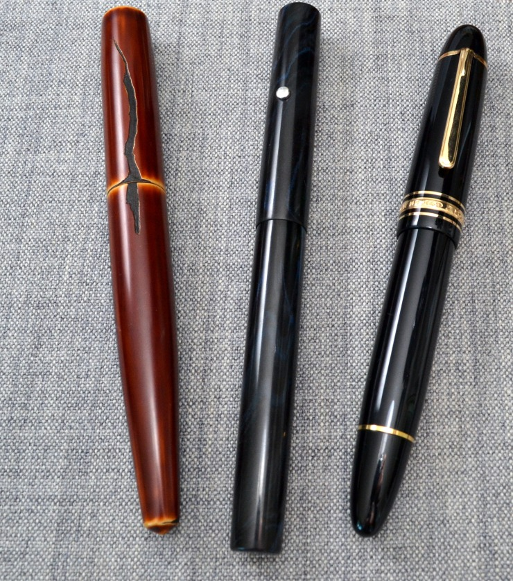 Left to right: Nakaya Naka-ai, Romillo Essential #9, Montblanc 149
