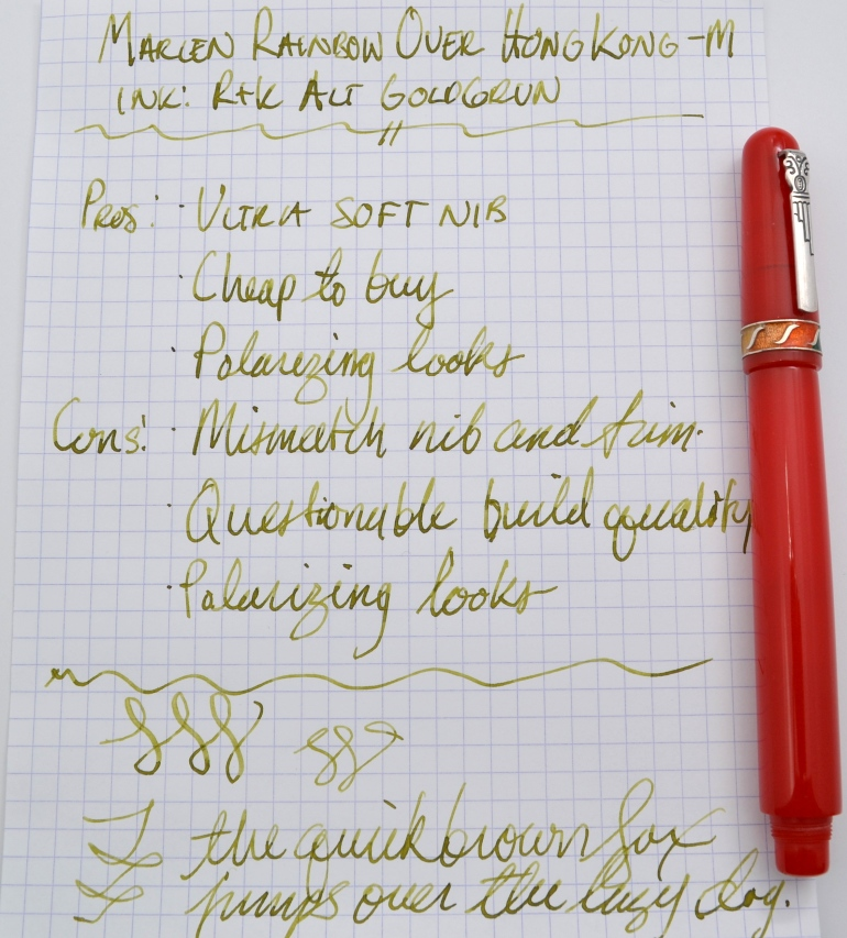 Marlen Rainbow Over Hong Kong Fountain Pen