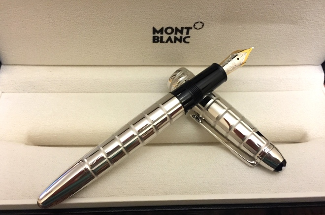 montblanc meisterstuck solitaire platinum plated facet legrand 146 fountain pen