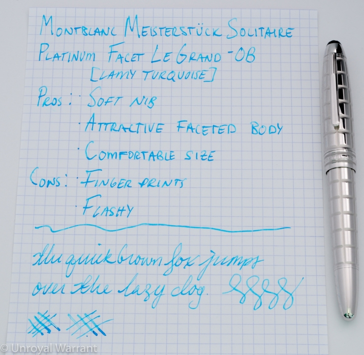 Montblanc LeGrand Platinum Facet Fountain Pen-7