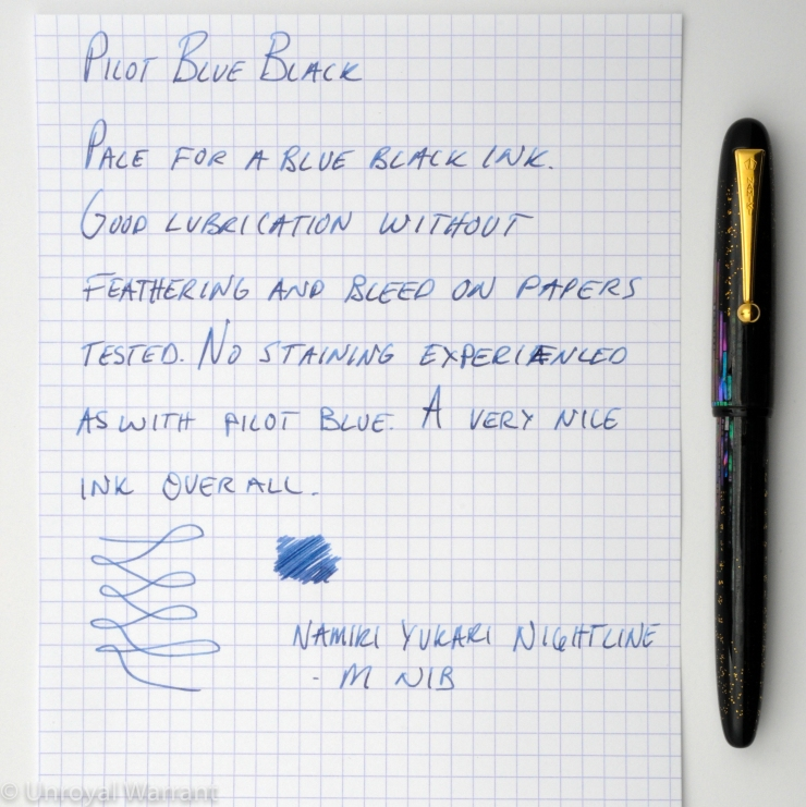 Pilot Blue Black Fountain Pen Ink