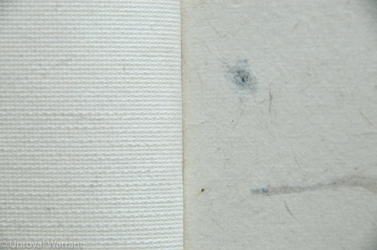 The texture up close (backside on the left and front side on the right)