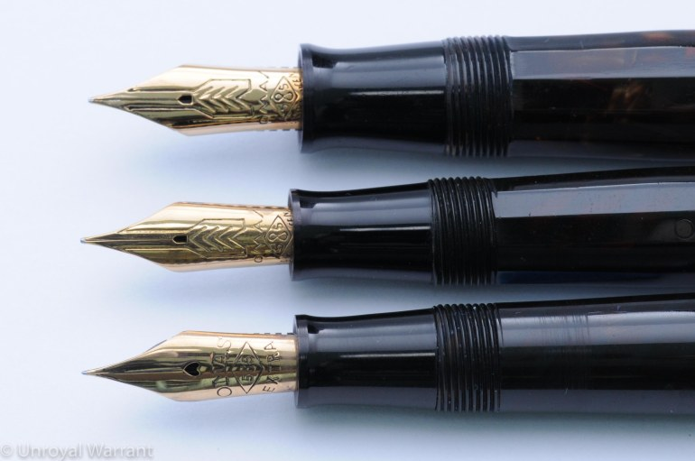Top to bottom: OMAS Extra Lucens (large), OMAS Extra Lucens (small), OMAS Lucens (small)