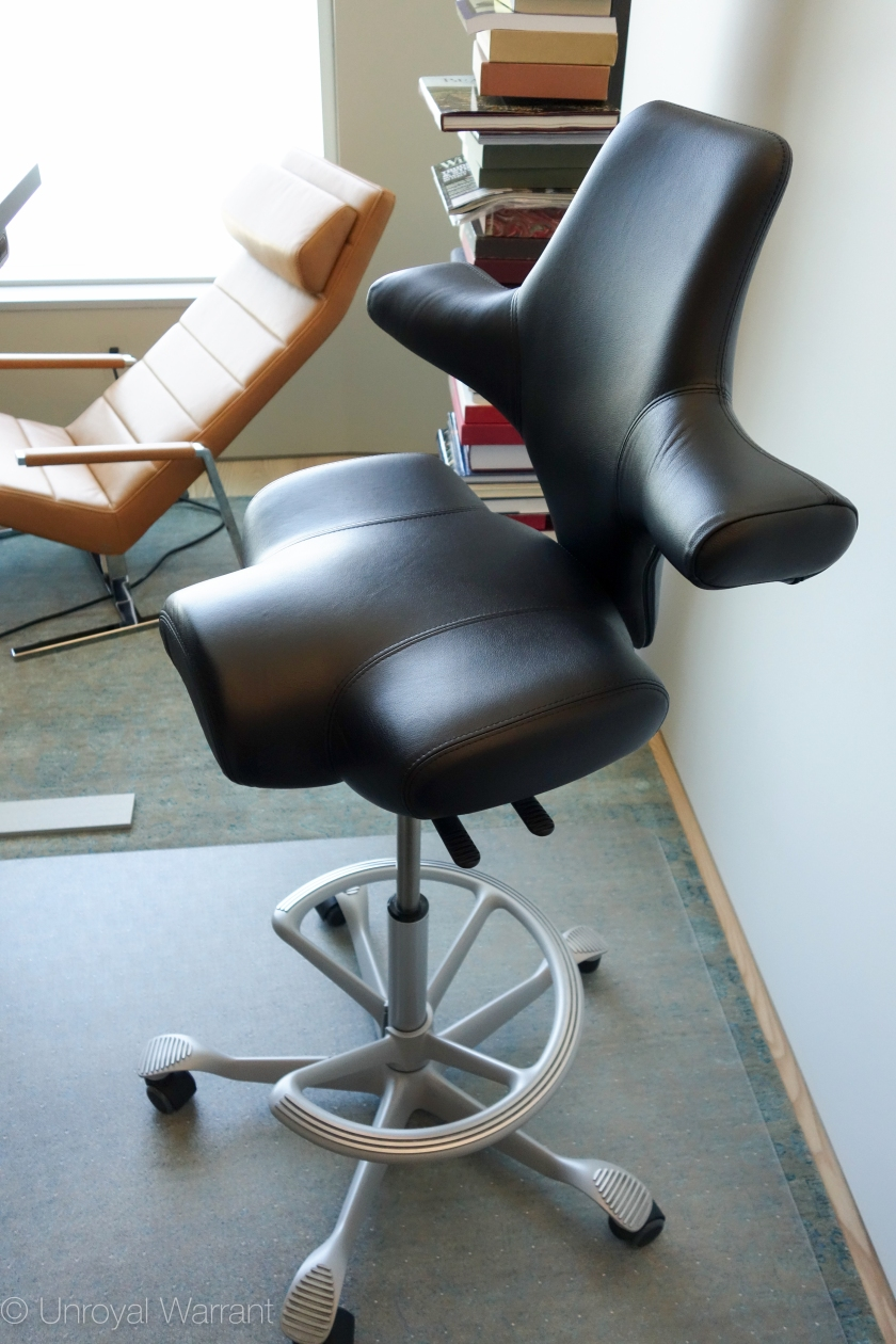 backrest in lowest position with seat in shortest position